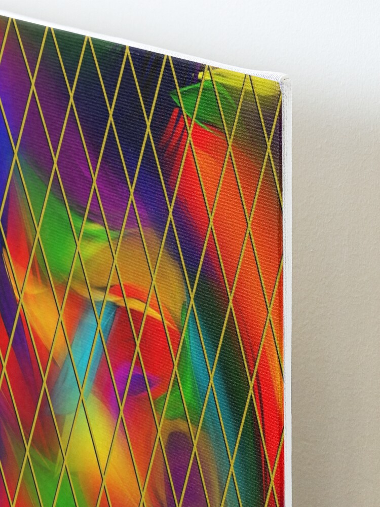 Alternate view of Golden Diamonds, Rainbow Void Mounted Print