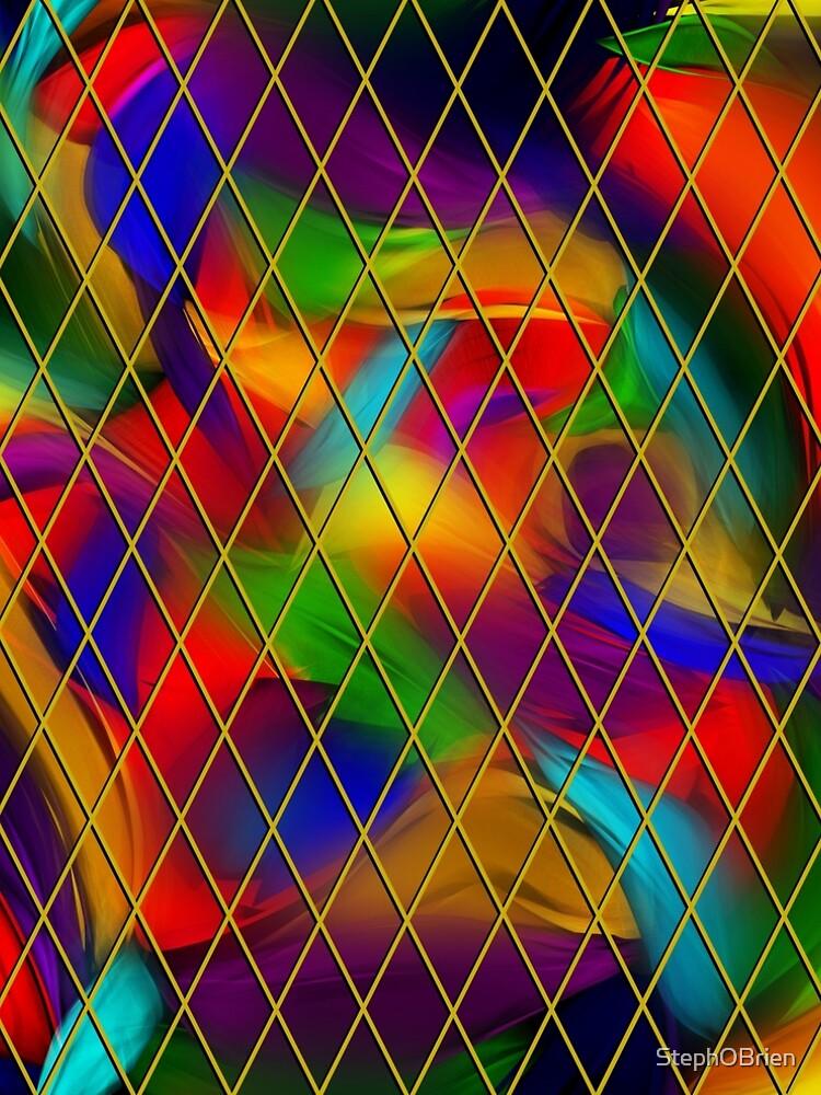 Golden Diamonds, Rainbow Void by StephOBrien