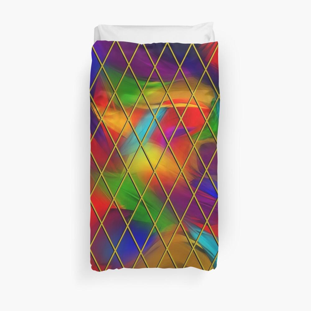 Golden Diamonds, Rainbow Void Duvet Cover