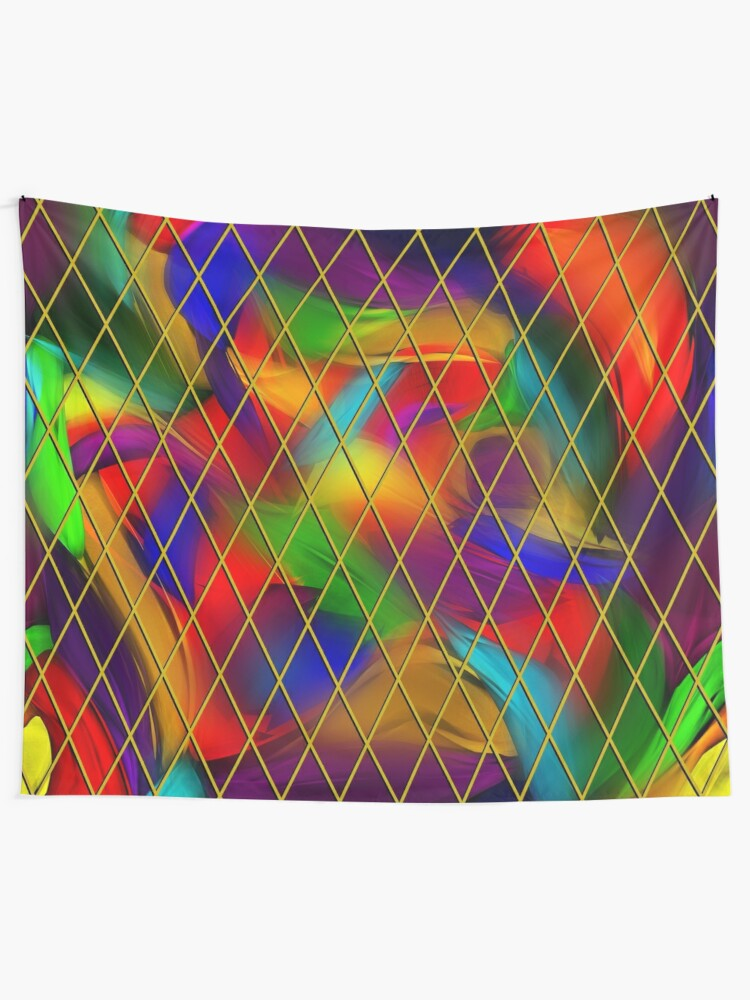 Alternate view of Golden Diamonds, Rainbow Void Tapestry
