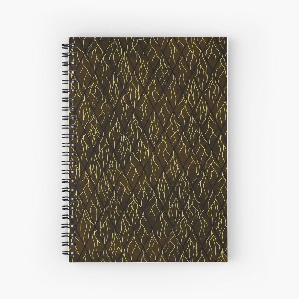Earthen Scales, Golden Streams Spiral Notebook