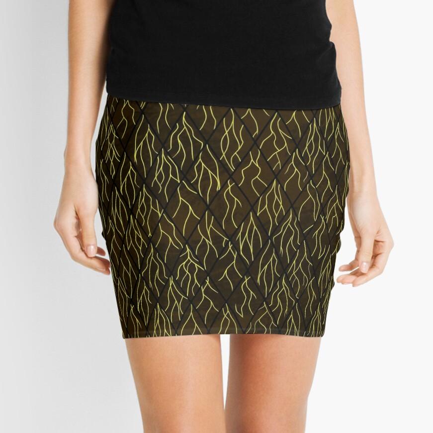 Earthen Scales, Golden Streams Mini Skirt