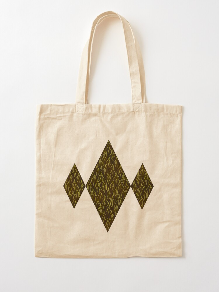 Alternate view of Earthen Scales, Golden Streams Tote Bag