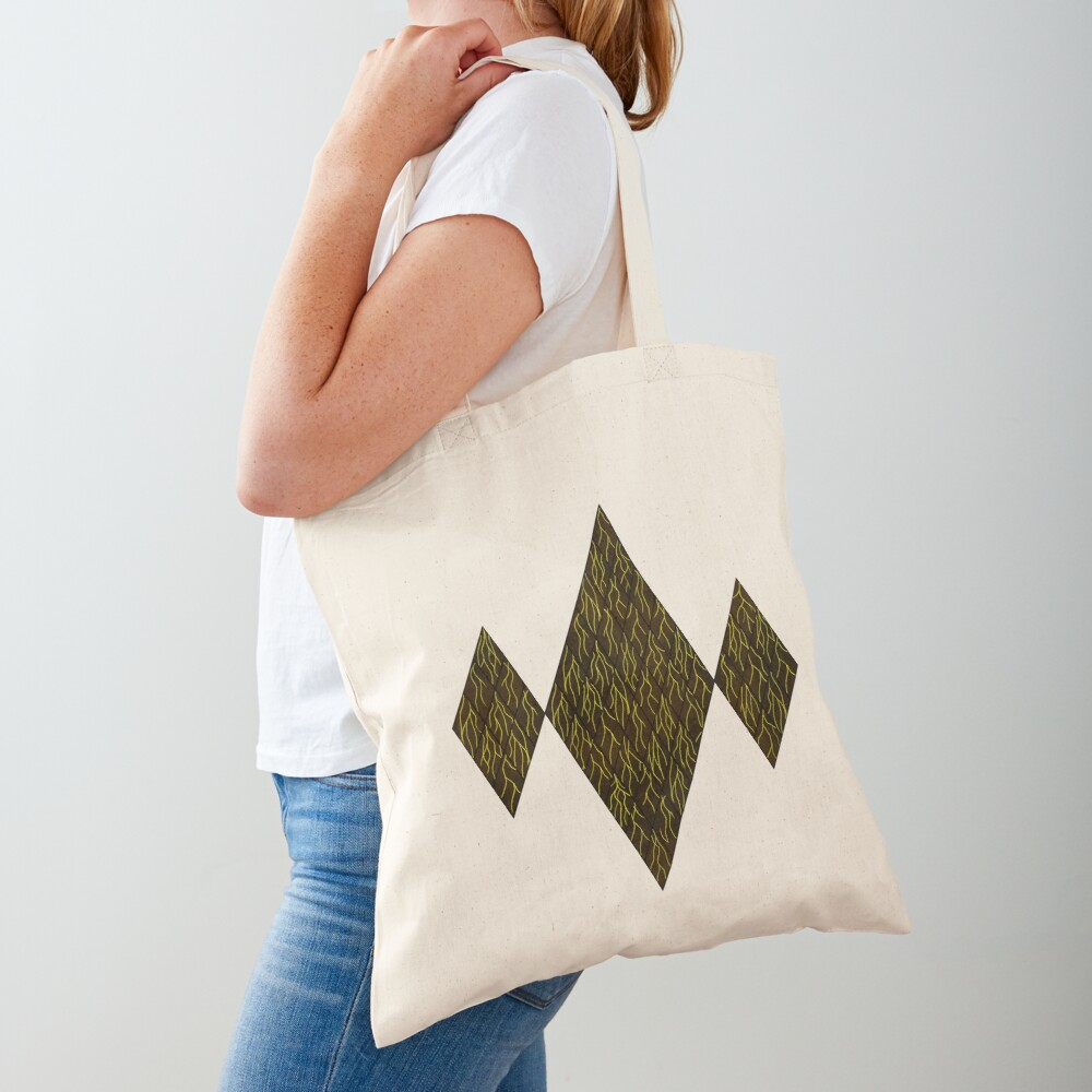 Earthen Scales, Golden Streams Tote Bag