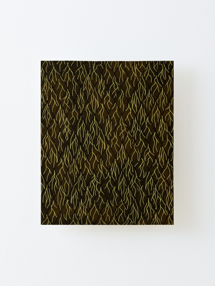 Alternate view of Earthen Scales, Golden Streams Mounted Print
