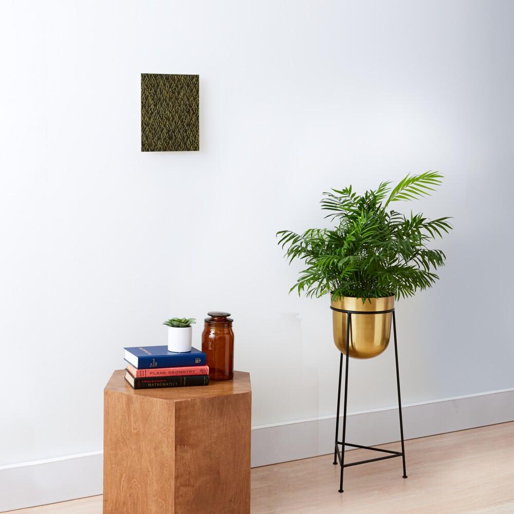 Earthen Scales, Golden Streams Mounted Print