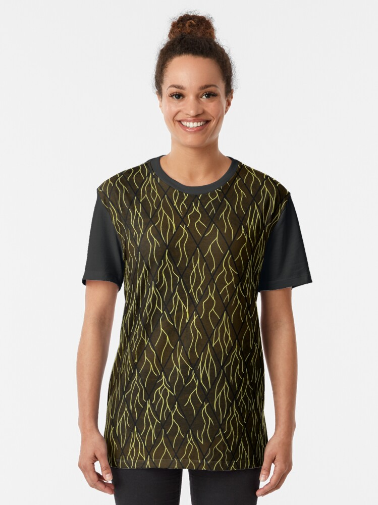 Alternate view of Earthen Scales, Golden Streams Graphic T-Shirt