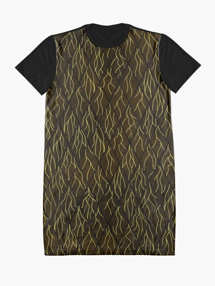 Alternate view of Earthen Scales, Golden Streams Graphic T-Shirt Dress