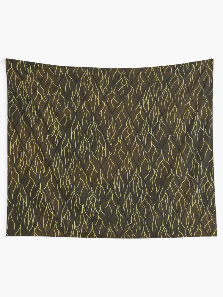 Alternate view of Earthen Scales, Golden Streams Tapestry
