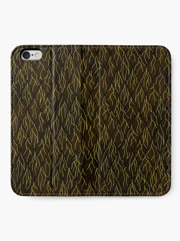 Alternate view of Earthen Scales, Golden Streams iPhone Wallet