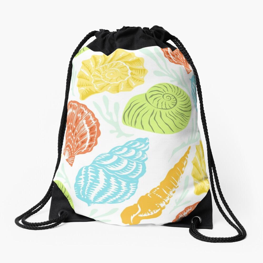 happy shells Drawstring Bag