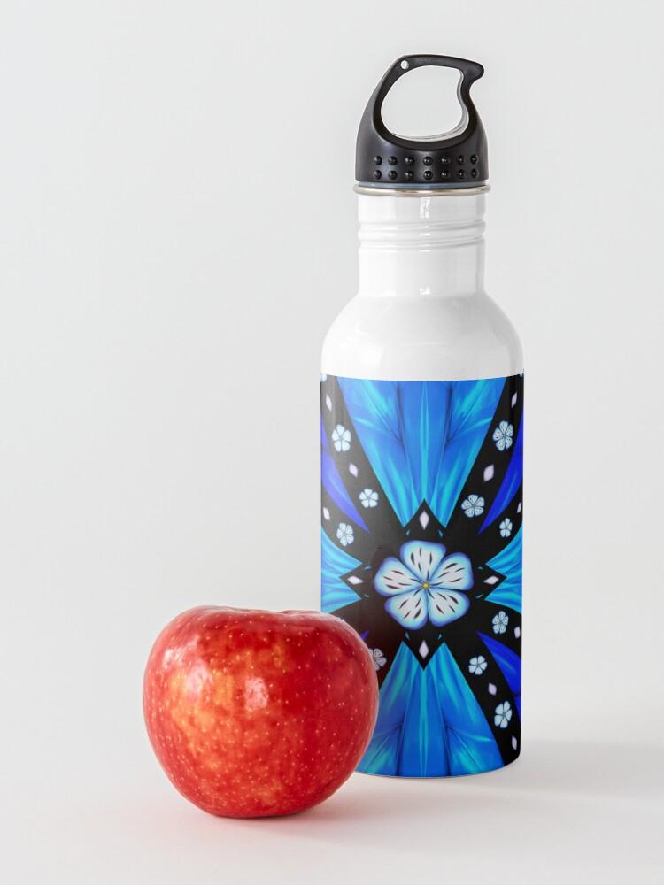 Alternate view of Onyx Beams of Flowers and Gems Water Bottle