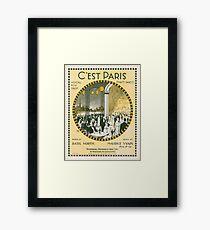 C'EST PARIS (vintage illustration) Framed Print