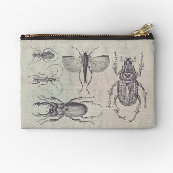 Vintage Beetles And Bugs Zipper Pouch
