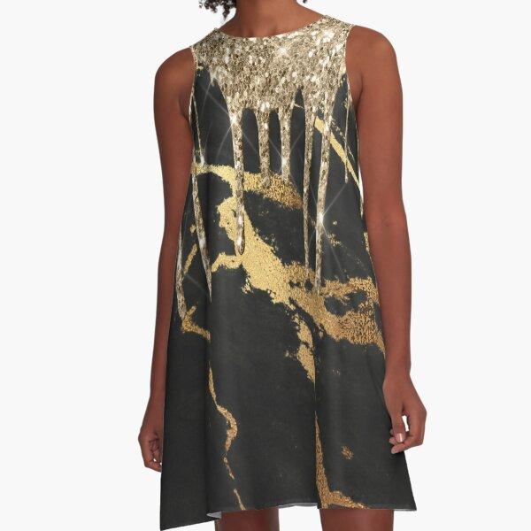 Rose gold glitter  A-Line Dress