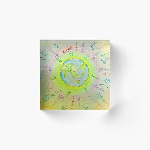 New world  Acrylic Block
