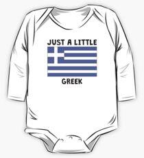 Body de manga larga para bebé Just A Little Greek