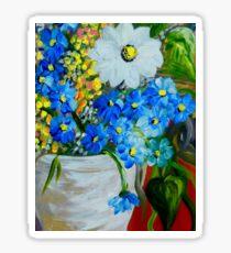 Flowers in a White Vase Sticker