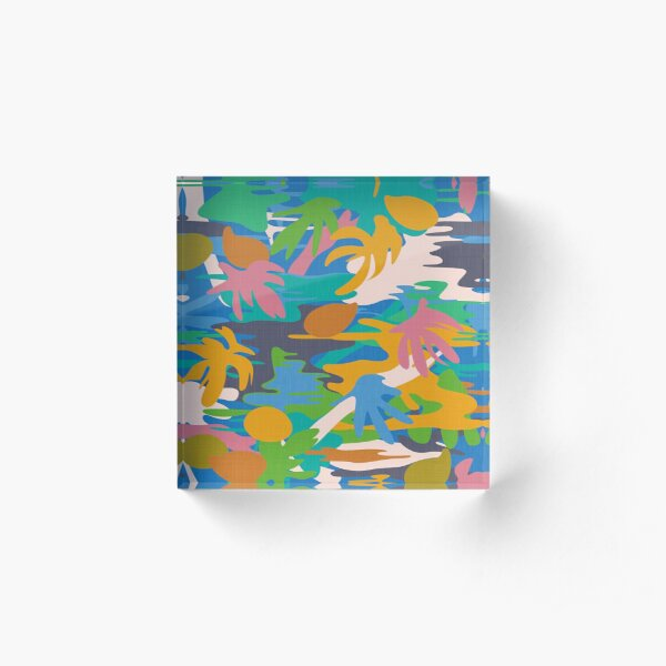 Tahiti Garden I. / Exotic Plants and Fruits Acrylic Block