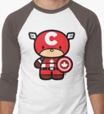 Chibi-Fi Captain Canada Men's Baseball ¾ T-Shirt