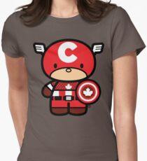Chibi-Fi Captain Canada Women's Fitted T-Shirt