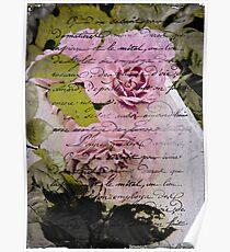 Vintage Pink Blooms Poster