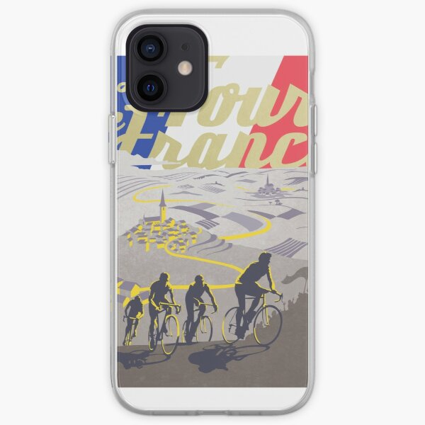 Affiche rétro du Tour de France Coque souple iPhone