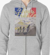 Le Tour de France retro poster Zipped Hoodie