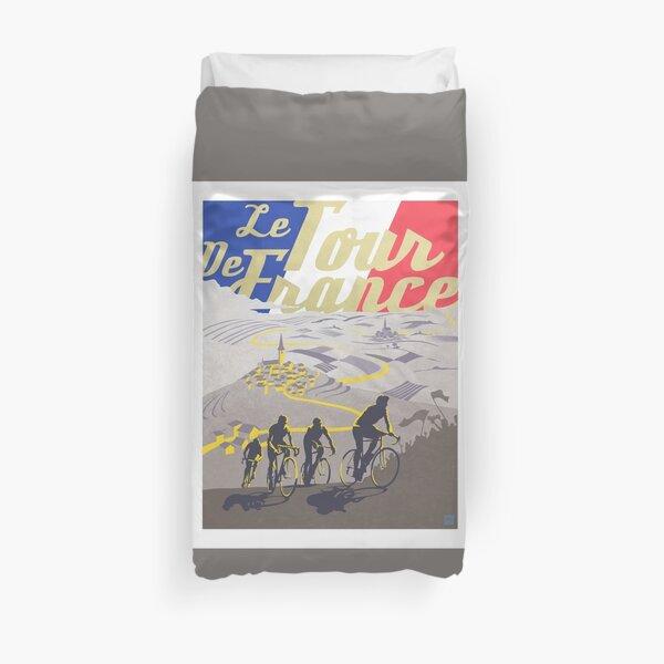 Affiche rétro du Tour de France Housse de couette