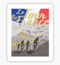 Le Tour de France retro poster Sticker