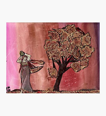 Tree Of Gold & Goddess Photographic Print
