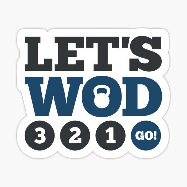 Let's WOD Sticker