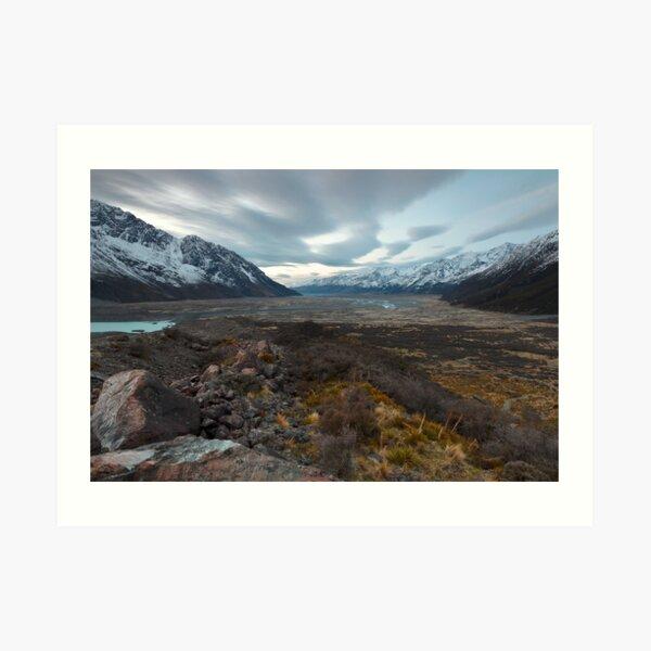 Tasman Glacier Art Print