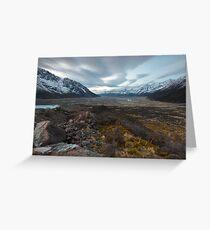 Tasman Glacier Greeting Card