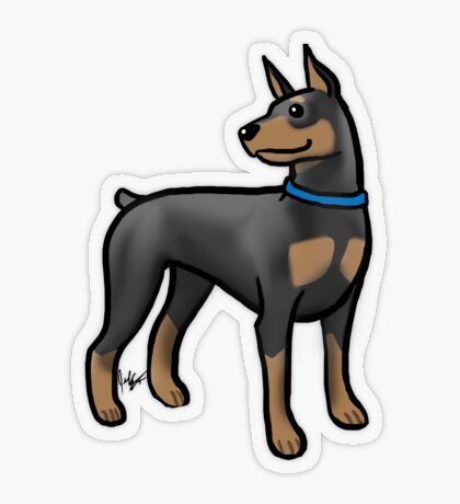 Doberman Transparent Sticker