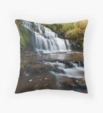 Purakaunui Falls Throw Pillow