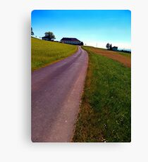 Country road, take me upwards Canvas Print