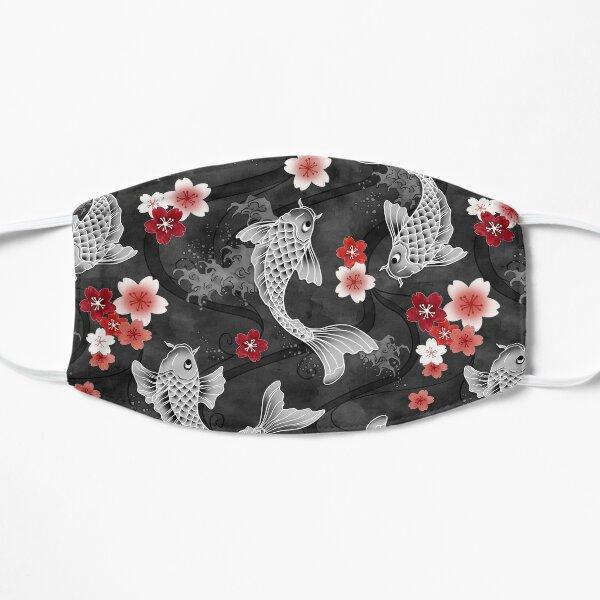 Koi sakura blossom in black Mask