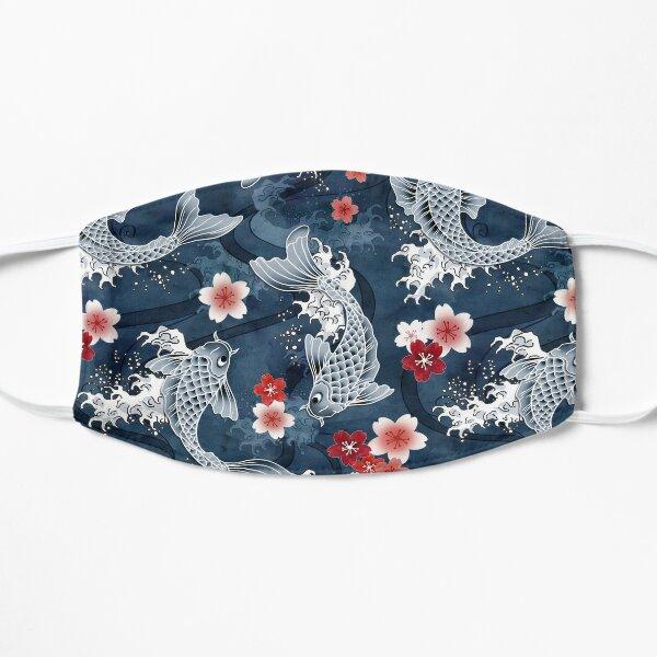 Koi sakura blossom in blue Mask