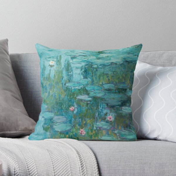 Water Lilies by Monet, 1915  Throw Pillow