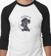 Black Toy Poodle IAAM Men's Baseball ¾ T-Shirt