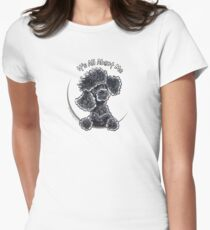 Black Toy Poodle IAAM Women's Fitted T-Shirt
