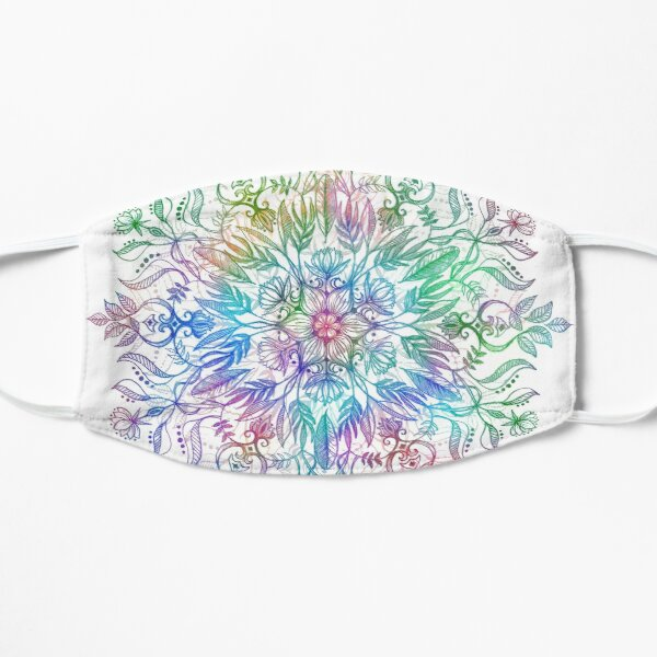 Nature Mandala in Rainbow Hues Mask