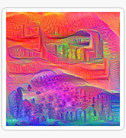 DeepDream Tomato Steelblue 5x5K v4 Sticker