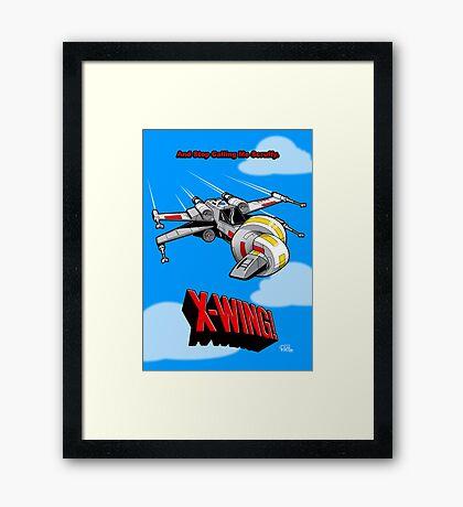 X-Wing! Framed Print