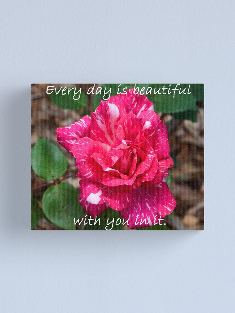 Alternate view of Every day is beautiful Canvas Print