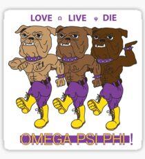 Omega Psi Phi - Love Live Die Dogs Sticker