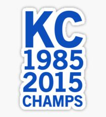 Kansas City Royals 2015 World Series Champs (blue font) Sticker