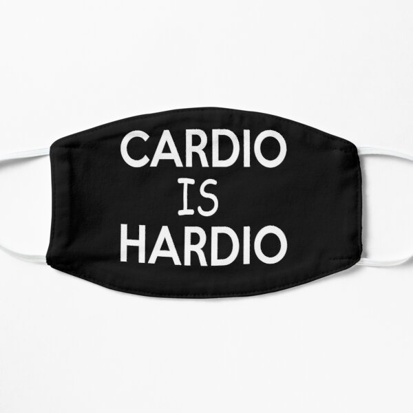 Cardio is hardio t shirt workout funny gym shirt clothing work out shirts fitness t-shirts workout women graphic tank top Flat Mask