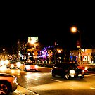 Late night traffic in West Hollywood by Rebecca Dru